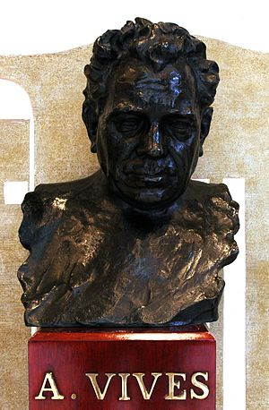 Amadeu Vives i Roig - Bust of Amadeu Vives at the Palau de la Música Catalana