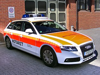 Nontransporting EMS vehicle - German emergency physician car (Notarzteinsatzfahrzeug).