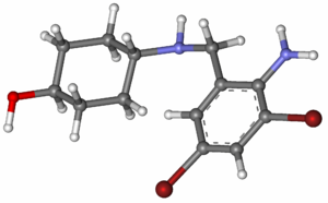 Ambroxol - Image: Ambroxol ball and stick