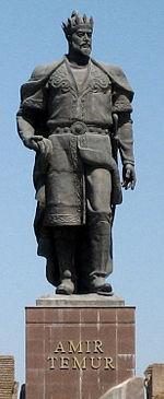 Statue de Tamerlan, à Chakhrisabz, Ouzbékistan , son lieu de naissance