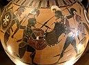 Detalle de ánfora de figuras negras del siglo VIa.C.