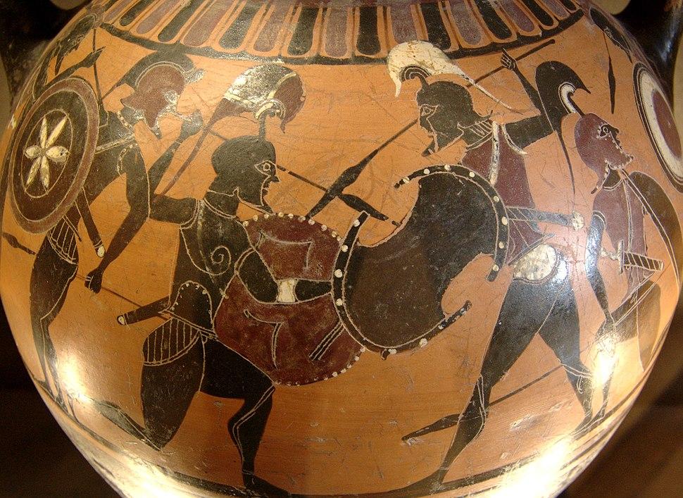 Amphora warriors Louvre E866