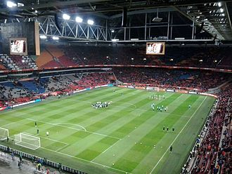 Johan Cruyff Arena - Photo from friendly match Netherland-France (2:3), interrupted at 14th minute as tribute to Johan Cruyff.