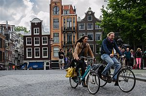 Outline of cycling - Cycling in Amsterdam.