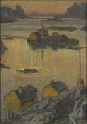 An August Night. Study from North Norway (Anna Boberg) - Nationalmuseum - 21332.tif