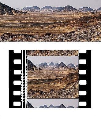 Anamorphosis - Image: Anamorphose cinemascope desert meme sens 2011 01 02