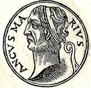 Ancus Marcius - Ancus Martius, fictional 16th-century depiction published by Guillaume Rouillé