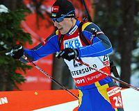 Андрій Дериземля на ЧС з біатлону-2008 (Остерзунд, Швеція)