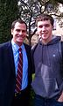 Andy Buckley (left) filming at Texas State University.jpg