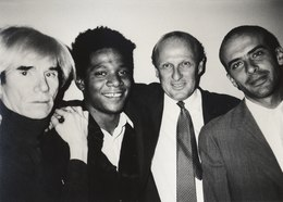 Andy Warhol, Jean-Michel Basquiat, Bruno Bischofberger and Fransesco Clemente, New York, 1984.tif