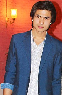 Anmol KC at success party of Dreams (Nepali Movie).jpg