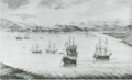 Annapolis Royal by military engineer John Henry Bastide, 1751, Nova Scotia Archives.png