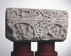 Chapiteau de l'histoire de Job de la basilique de la Daurade