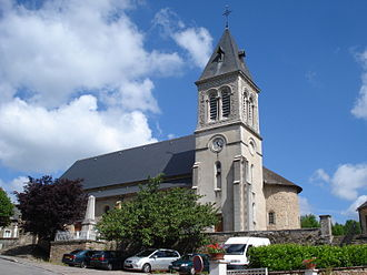 Anost - Image: Anost (Saône et Loire, Fr), church