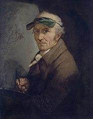 Autoportrait à la visière verte
