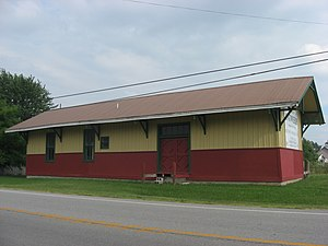 National Register of Historic Places listings in Paulding County, Ohio - Image: Antwerp Norfolk and Western Depot