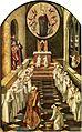 Aparición de la Virgen a una comunidad de dominicos, de Pedro Berruguete (Museo del Prado).jpg