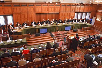 United States and state-sponsored terrorism - The International Court of Justice in session