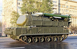 53rd Anti-Aircraft Rocket Brigade - A Buk SAM of the type used by the brigade