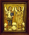 Archangels Gabriel and Michael, Miskolc, Serbian painter, early 19th c.jpg