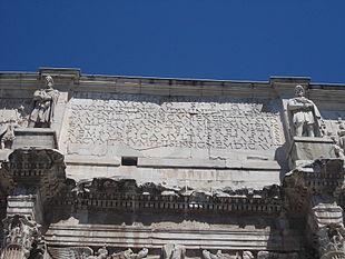 Arco di Costantino, iscrizione principale