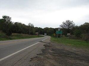 Arkansas Highway 23 - Southbound in Ozark, Arkansas.