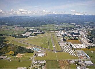Arlington, Washington - Aerial view of Arlington Municipal Airport