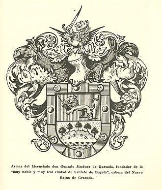 Gonzalo Jiménez de Quesada - Image: Armas de Gonzalo Jiménez de Quesada AHG