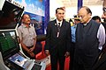 Arun Jaitley taking a close look at the USHUS-II Submarine Sonar, during the handing over ceremony of the DRDO developed products to the Indian Navy, in New Delhi.jpg