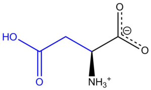 Aspartic acid - Image: Aspartic Acidph