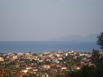 Asprovalta - Image: Asprovalta panorama