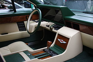 Aston Martin Lagonda - The interior of the Series 2 had a very futuristic dashboard and controls