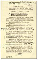 Cópia editada de Winston Churchill da versão final da Carta do Atlântico