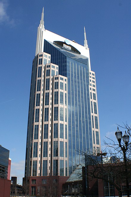 AT&T Building, the tallest building in Tennessee Att building nashville.jpg