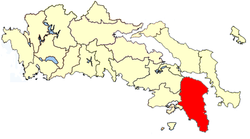 Location of Attica Province