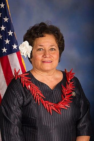 American Samoa's at-large congressional district - Image: Aumua Amata Radewagen congressional photo
