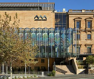 Australian Museum - The exterior and Crystal Hall entry to the Australian Museum in Spring 2016