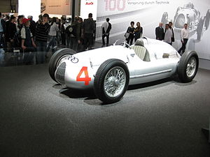 Auto Union racing car - Auto Union Type D at 2009 AMI Leipzig