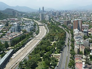 Balmaceda Park - Image: Avenida Providencia