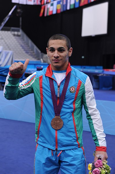 File:Azerbaijani athlete Valentine Khristov won bronze in the weightlifting competition of the 2012 London Olympic Games 7.jpg