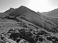 B&W of the Chugach Mountains shortly after sunrise (5511687199).jpg