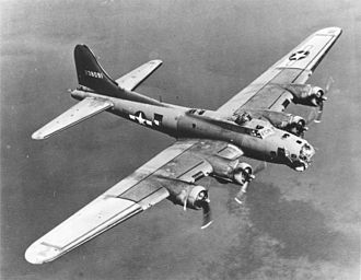 High level bombing - The B-17 Flying Fortress, a famous World War II heavy bomber and high level bomber.