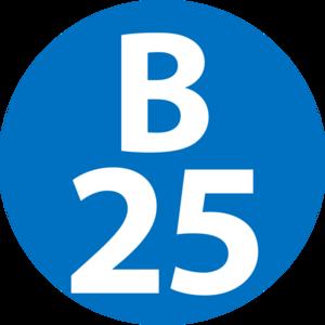 Shin-Yokohama Station - Image: B 25 station number