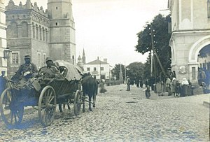 Sandomierz - 1914. Wounded in action Austro-Hungarian soldiers in Sandomierz during World War I