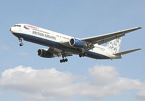 "British Airways Boeing 767, featuring ""De..."