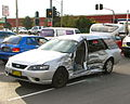 BF Falcon XT wagon involved in collision with a small truck - Flickr - Highway Patrol Images.jpg