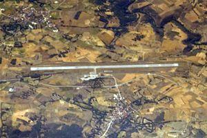 Bragança Airport - Image: BGC BRAGANCA AIRPORT FROM FLIGHT CDG RAK A319 EASYJET (15014495078)
