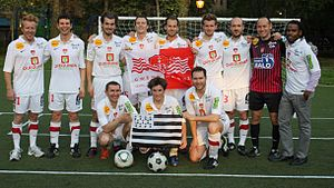 Breton soccer teams in New York - The starting eleven in late 2012 (Long Island City YMCA)