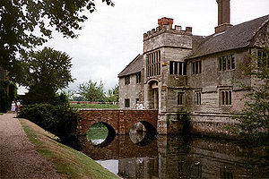 Moat - The moated manor house of Baddesley Clinton in Warwickshire, England