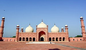 Badshahi Mosque - A view of the mosque's prayer hall